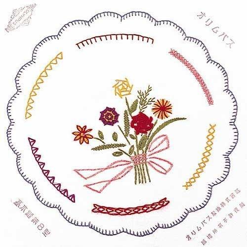 オリムパス フランス刺しゅう基本縫 8型 刺繍 ししゅう フランス刺繍 クロスステッチ 教材 教育 家庭科
