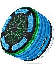 BassPal Douche-luidspreker, waterdicht IPX7, draagbare draadloze Bluetooth 4.0 luidspreker met super bas en HD-geluid, perfecte luidspreker voor strand, zwembad, keuken en thuis
