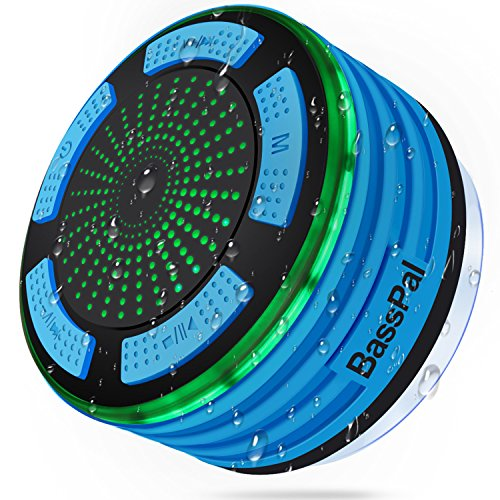 BassPal Shower Speaker, IPX7 Waterproof Portable Wireless Bluetooth...