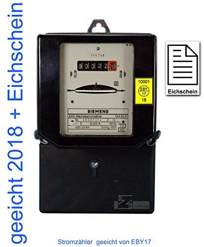 Wechselstromzähler 10/40 Amp. geeicht mit Eichschein (Zertifikat) max. 9,2kW von Prüfstelle EB17