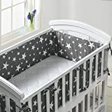 Luchild Baby Cot Bumper, Crib Bumper Wrap Around Protection 100% Cotton Crib Bumpers Bedding-420cm