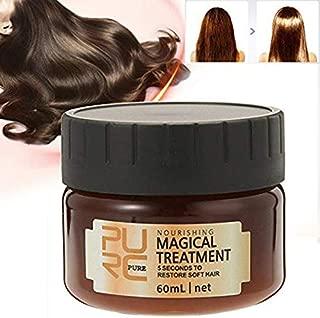 PURC Professional Magical keratin Hair Treatment Mask,Advanced Hair Root Nourishing Treatment 5 Seconds Repairs Damage Hair Tonic Keratin Hair & Scalp Treatment, 60ml