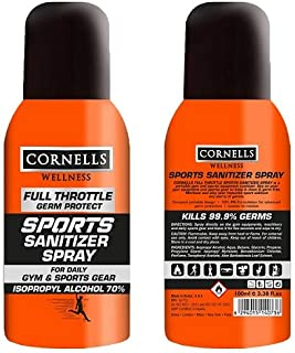 CORNELLS Full Throttle Germ Protect Sports Hand Sanitizer Spray, 100 ml