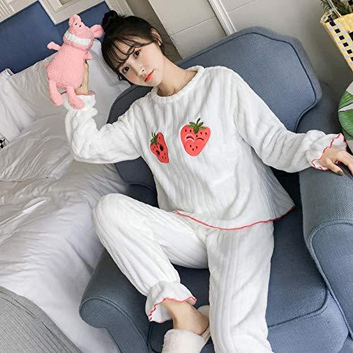 Cxypeng Damen Pyjama-Set aus Flanell,Die Langarmhose für Winterfrauen passt zu einem...