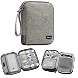 BOONA Cable Travel Organizer Bag Case Electronic Accessories Cord Wire Bag Case for Cable Car Charger Portable Gadget (Grey, Small Double Layer)