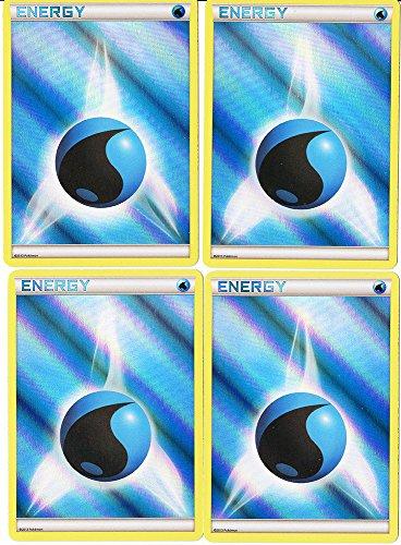 POKEMON - Energy LOT - x4 Holo FOIL Water Energy - Card Set Mint
