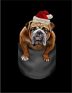 Fox Republic ブルドッグ サンタクロース クリスマス ポケット 犬 イエロー キッズ パーカー シッパー スウェット トレーナー 130cm
