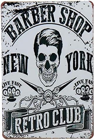 shop LAOBA Barbershop Tin Sign Vintage Metal Signs Popular product Pin Bar Plaques Up