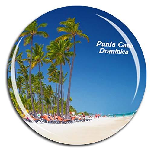 Weekino Bavaro Beach Punta Cana Dominica Karibisches Meer Kühlschrankmagnet 3D Kristallglas Touristische Stadtreise City Souvenir Collection Geschenk Starker Kühlschrank Aufkleber