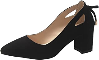 Dames pumps avondschoenen hakschoenen, mode vrouwen sandalen Pointed Toe enkels High Heel Party Jobs Flock enkele schoenen...