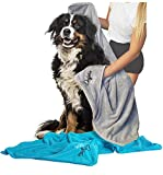 Dolphin & Dog® - Super Absorbent Dog Towel Set - 2 large Luxury Towels for Dogs - Quick Drying and Machine Washable - Microfibre Dog Towels - Perfect Dog Gifts