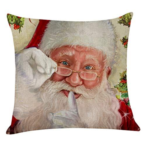 Happymxwx Fodera Per Cuscino 2 Pezzi, Casa Per Anziani Natale 45 * 45 Fodera Per Cuscino In Velluto Super Morbido L,Fodera Per Cuscino Quadrato, Elemento Decorativo Semplice, Da Usare In Casa