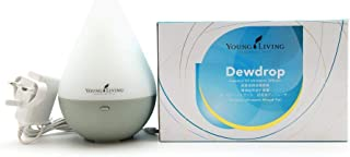 Young Living Home Diffuser Dew Drop Design Essential Aromatherapy Oil Ultrasonic Cool Mist Humidifier with Blue LED Light for Bedroom Living Room Kitchen Office ( adapter not included )