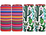 XccH2o 4pcs Neoprene Slim Can Cooler Soft Slim Can Sleeves Suitable for 12 oz Energy Drink Beer Cans Red Bull White Claw and Seltzer Water (Colorful-4F)