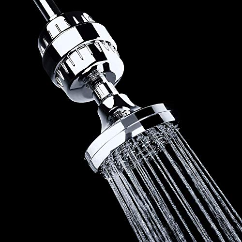 AquaBliss High Output Revitalizing Shower Filter - Reduces Dry Itchy Skin, Dandruff, Eczema, and Dramatically Improves The Condition of Your Skin, Hair and Nails - Chrome (SF100)
