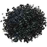 Rockcloud 1 lb Black Obsidian Small Tumbled Chips Crushed Stone Healing Reiki Crystal Jewelry Making Home Decoration