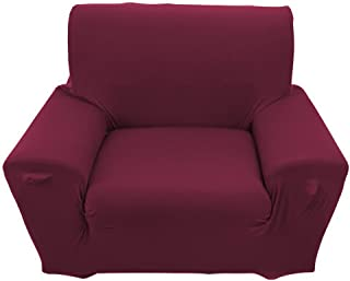 ZJchao Elastic Anti Wrinkle Couch Covers,Solid Color Stylish Sofa Slipcover 1-4 Seat Soft Lightweight Slip Resistant Sofa Furniture Protector Cover Fit Many Popular Sofas (1Seat=35