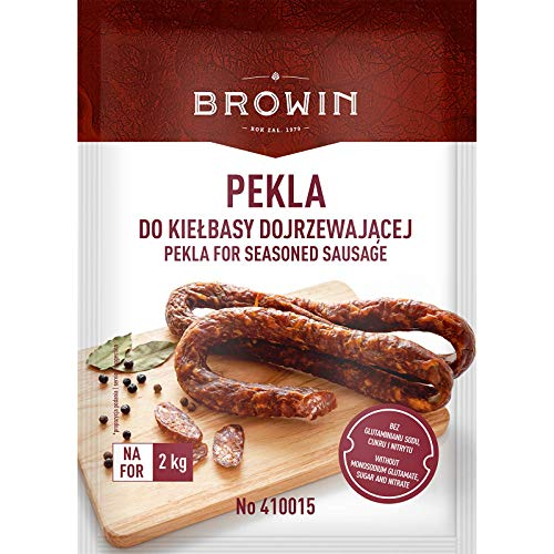 Pekla voor gekruide worst 60g voor 2kg - Specerijen voor gekruide worst   Zout met kruiden genezen   Zout voor vlees   Saltpetre