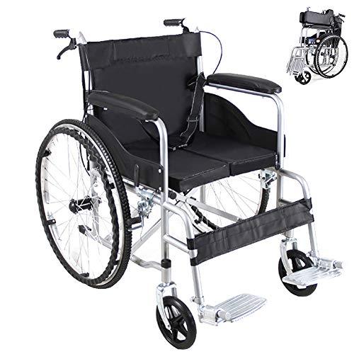 EJOYDUTY Eigenantrieb Rollstühle Folding Leichte Mobilität Gerät für Senioren, Behinderte und behinderte Nutzer, mit Handbremsen und Quick Release Hinterräder,Schwarz