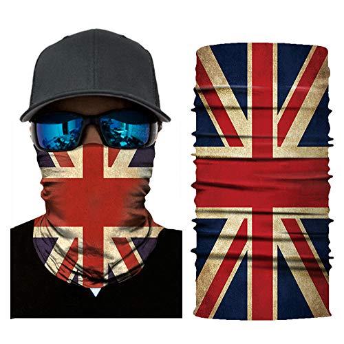 Face Sun Mask Bandanas,Neck Gaiter,Headwear,Headband,Magic Scarf,Balaclava for Fishing, Hunting Sports (British Flag)