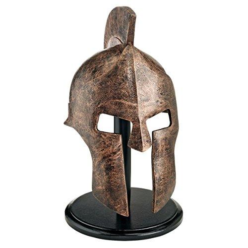 Design Toscano Griechisch-spartanische Helmkorinthische Rüstung Statue, Polyresin, Bronze-Finish, 30,5 x 9 x 40,5 cm