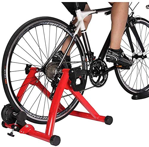 LJ Indoor Bicycle Turbo Trainer,Magnetic Bicycle Trainer Heavy Duty Stable Bike Stationary Riding Stand Supports,Bicycle Riding Exercise Traine