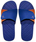 Showaflops Boys' Antimicrobial Shower & Water Sandals for Pool, Beach, Dorm and Gym - Royal Blue/Orange Slide 5/6