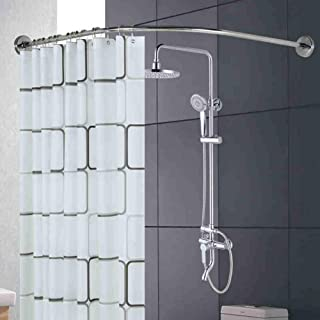 Curved Shower Curtain Rail Bar, Shower Curtain Rod, Stainless Steel Multi-Function Stretch Curtain Rod for Bathroom, Batht...