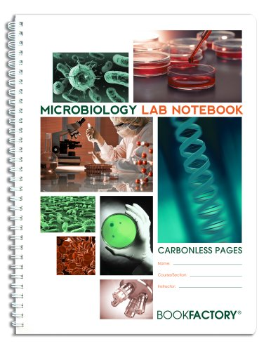 BookFactory Carbonless Microbiology Lab Notebook - 75 Sets of Pages (8.5