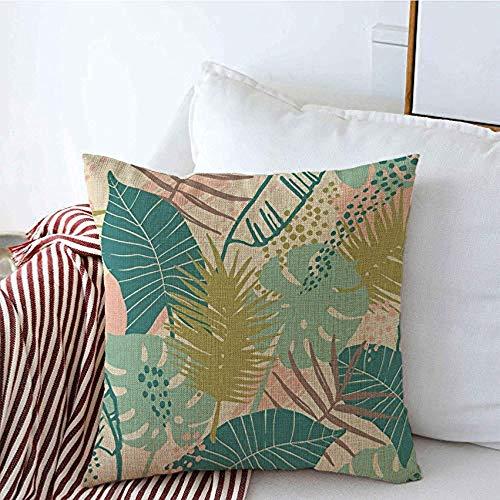 New-WWorld-Shop Kissenbezüge South Liana Exotic Pattern Tropische Madagaskar Pflanzen Zusammenfassung Hawaii Beach Blossom Vintage Kissenbezüge