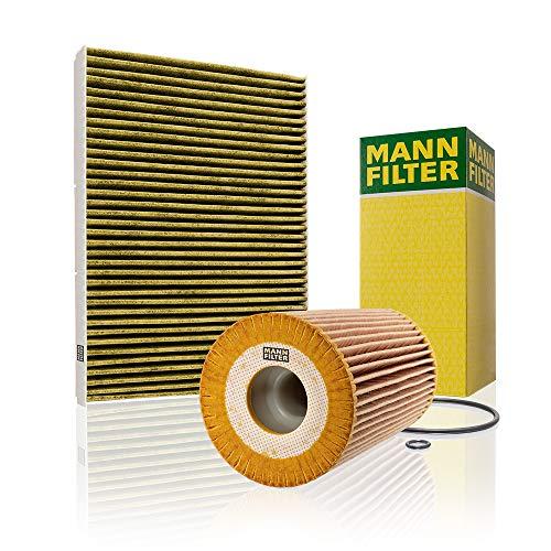 Mann Filter Original Set aus 1x Innenraumfilter FP 2862 und 1x Ölfilter HU 726/2 x - Für PKW, mit Biofunktionalem Pollenfilter