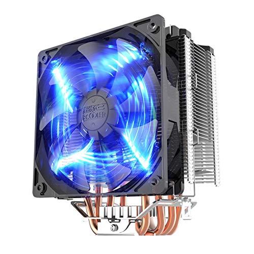 yingweifeng-01 Fan Tres X5 / X6CPU LED Inteligente Ventilador / 775/1151 Control de Temperatura de Escritorio L Radiador Azul Ordenadores (Color : East China Sea X5)