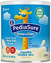 PediaSure Grow & Gain Non-GMO & Gluten-Free Shake Mix Powder, Nutritional Shake For Kids, With Protein, Probiotics, DHA, Antioxidants*, and Vitamins & Minerals, Vanilla, 14.1 oz, 6 Count