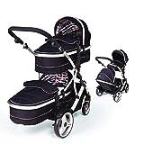 Kids Kargo Duellette 21 Kombi Kinderwagen set Babywagen doppelter kinderwagen NEU FARBPALETTE - Dooglebug schwarz
