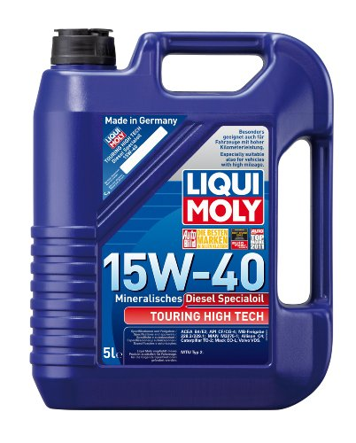 LIQUI MOLY 1073 Touring High Tech Diesel-Spezialöl 15W-40, 5 L