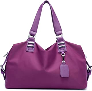 Handbag Shoulder Slung, Unisex, Large Capacity, Oxford Material, Waterproof and Simple, Suitable for Travel, Shopping,Purple