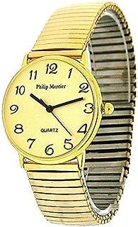 5ca1c5e40 Philip Mercier Gents Goldtone Expander Bracelet Strap Dress Watch MC45B