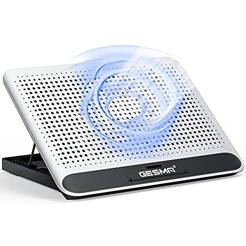 ノートパソコン 冷却 パッド 冷却台 ノートPCクーラー 160mm超大型冷却ファン搭載 大風量 USBポート2口 風量調節可 6段階高度調整 9-17インチまでのノートPC/Macbook/Macbook Pro/PS3/PS4等に対応