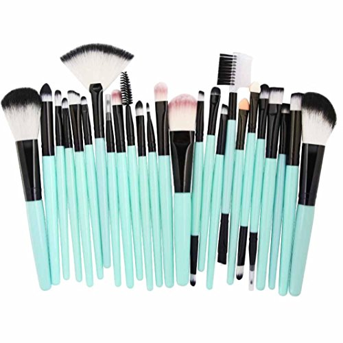 Make-up Pinsel,Binggong 25pcs Kosmetik Make-up Pinsel Rouge Lidschatten Pinsel Set Kit Pinselset Premium Pinselhaare Gesicht Pulver Pinsel (18x14x2cm, Mehrfarbig A)