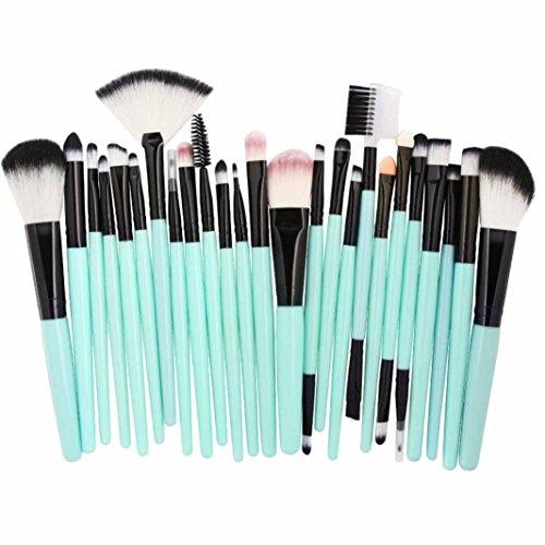 Make-up Pinsel,Binggong 25pcs Kosmetik Make-up Pinsel Rouge Lidschatten Pinsel Set Kit Pinselset Premium Pinselhaare Gesicht Pulver Pinsel (18x14x2cm, Mehrfarbig A)