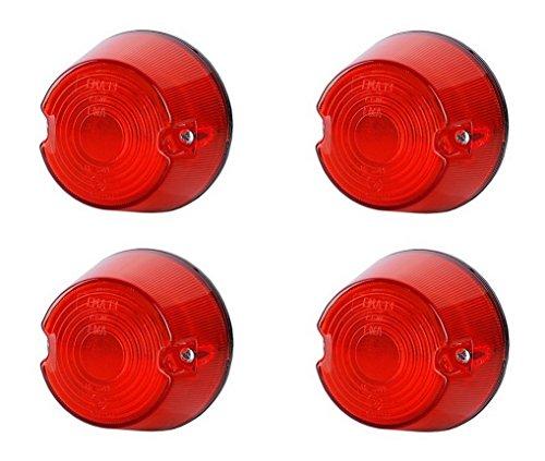 Lot de 4 feux de position latéraux arrière rouges 12 V 24 V marquage E pour voiture, camion, remorque, ampoule universelle