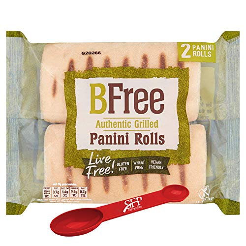 Bfree Foods Authentic Grilled Panini Bread Gluten Free, 5.29 Ounce {2 Hoagie Rolls per Pack] [Case of 6] with BONUS Measuring Spoon