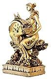 TSYGHP Relojes Ornamentos Europeo Moda Creativo Sala de Estar decoración Relojes Dormitorio Cama Reloj Reloj Reloj de Cuarzo ángel Despertador