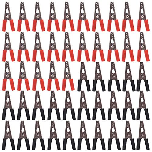 XYJOL Pinzas De Cocodrilo Pinzas De Bateria Clips De La Batería del Cables Pinza De Cocodrilo De Aislamiento Pinzas De Cocodrilo Automático Juego De Pinzas De Cocodrilo Pinzas para Batería De Coche