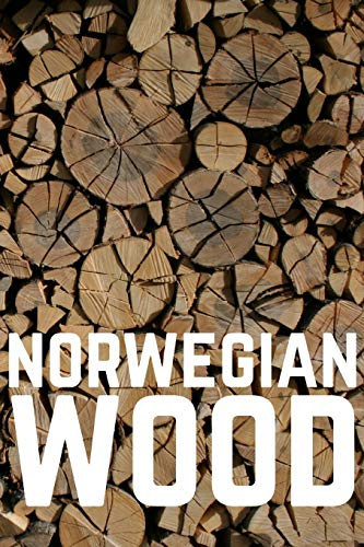 Norwegian Wood Lined Notebook: Living a wood burning, firewood hunting lifestyle in Norway
