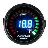 2 pollici 52 mm rapporto aria/carburante AFR Gauge Kit, Auto 12 V LED Digital Volt indicatore di tensione