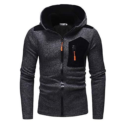 Sudadera con Capucha para Hombre, para otoño e Invierno, para Ocio y Moda. Negro Large = Etiqueta X-Large