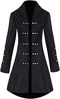 Zhhlaixing Vintage Womens Medieval Coat Jacket Fancy Dress for Adults Cosplay Party Jacket Gothic Halloween Uniform Costume