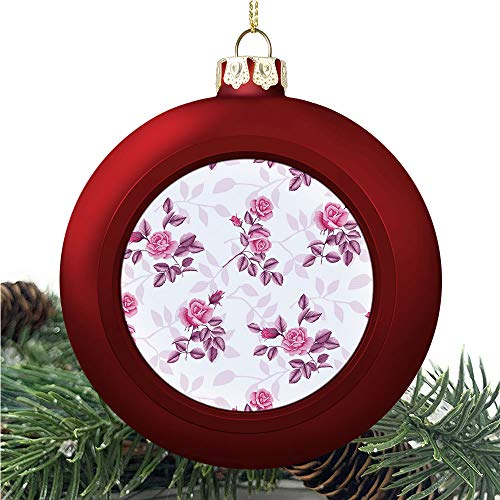 SUPNON Bouquet of Roses | Christmas Ball Ornaments 2020 Christmas Pendant Personalized Creative Christmas Decorative Hanging Ornaments Christmas Tree Ornament №SW89699