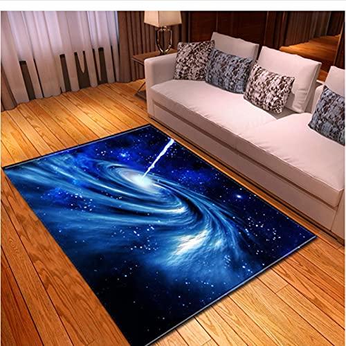 XIAIEWEI Alfombras nórdicas de Franela Suave 3D Galaxy Space Alfombras Impresas para habitación de niños Alfombras de área Grande Decoración para el Dormitorio del hogar 180 * 280cm